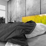 Tête de lit rosée matinale - Lit de 140