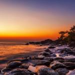 Tête de lit coucher de soleil - Visuel