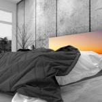 Tête de lit coucher de soleil - Lit de 140
