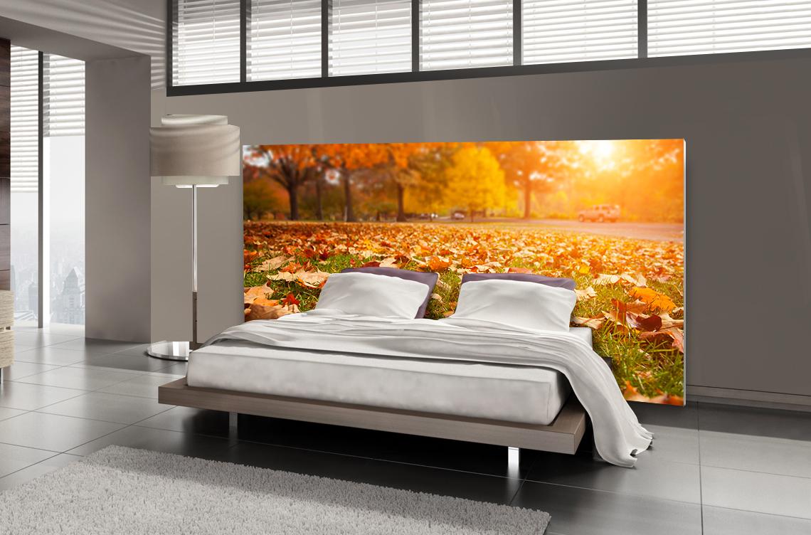 Tête de lit feuilles d'automne - Lit de 140