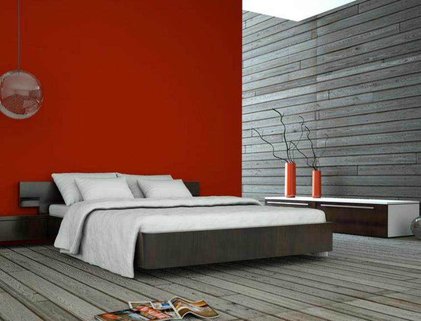 d co chambre brique rouge. Black Bedroom Furniture Sets. Home Design Ideas