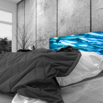 Tête de lit poissons- Lit de 140