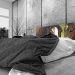 Tête de lit jument et son poulain - Lit de 140