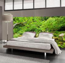 Tête de lit jardin zen - Lit de 140