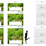 Tête de lit jardin zen - Plan
