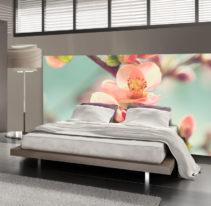 Tête de lit cerisier en fleur - Lit de 140