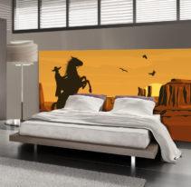Tête de lit cowboy - Lit de 140
