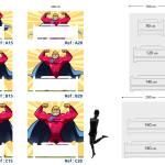 Tête de lit superman - Plan