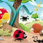 Tête de lit dessin animé insectes - Design