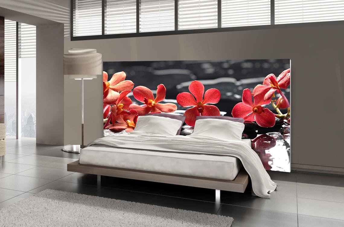 Tête de lit orchidée - Lit de 140