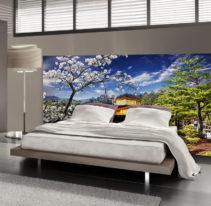 Tête de lit temple japonais - Lit de 140