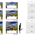 Tête de lit temple japonais - Plan