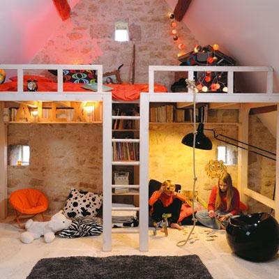 5 id es pour bien am nager l 39 espace sous une mezzanine marchand de sable. Black Bedroom Furniture Sets. Home Design Ideas