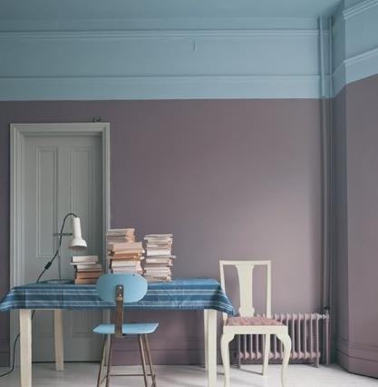 style bicolore ou l 39 art du mur moiti peint marchand de sable. Black Bedroom Furniture Sets. Home Design Ideas
