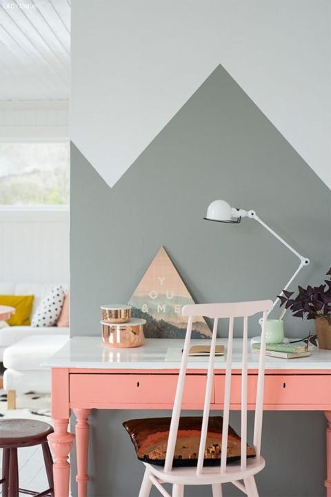 style bicolore ou l'art du mur à moitié peint ! - marchand de sable