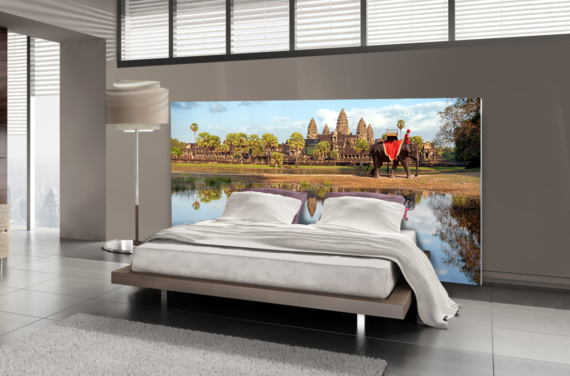 Tête de lit Angkor Vat - Lit de 140