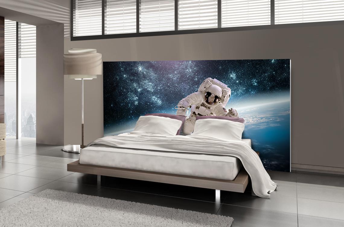 t te de lit astronaute textilvision. Black Bedroom Furniture Sets. Home Design Ideas