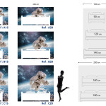Tête de lit astronaute - Plan