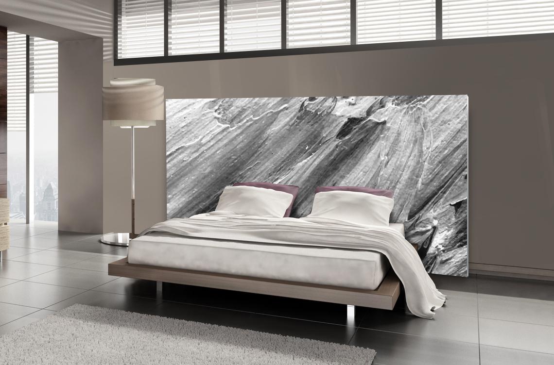 Tête de lit béton texturé - Lit de 140