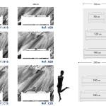 Tête de lit béton texturé - Plan