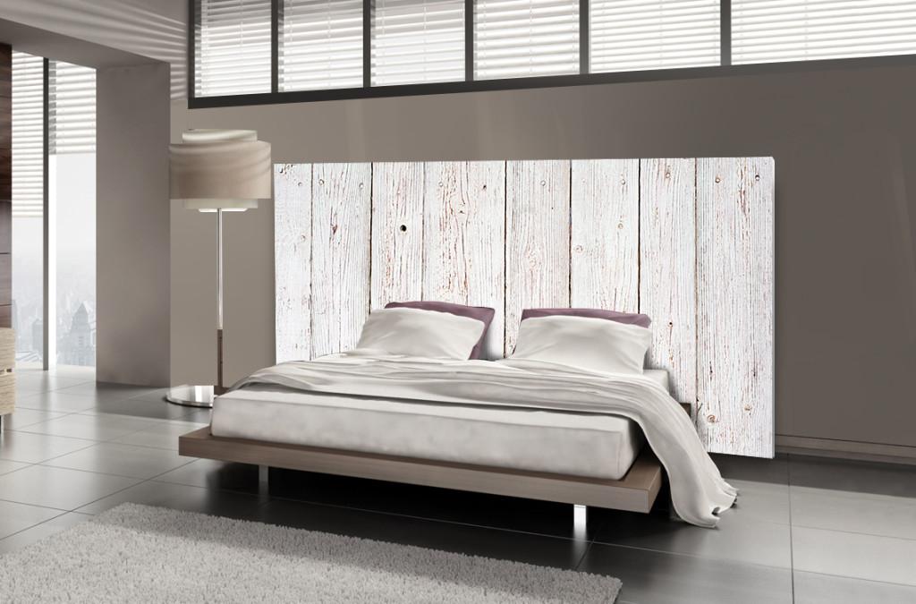 tete de lit en bois blanc. Black Bedroom Furniture Sets. Home Design Ideas