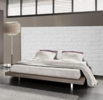 Tête de lit brique peinte - Lit de 140