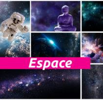 Tête de lit Espace - Cadre aluminium - TEXTILVISION
