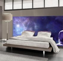 Tête de lit méditation dans l'espace - Lit de 140