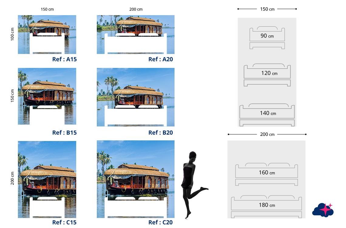 tete de lit style indien hippie tapisserie indienne. Black Bedroom Furniture Sets. Home Design Ideas