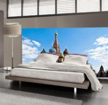 Tête de lit Moscou - Cathédrale Saint-Basile-le-Bienheureux - Lit de 140