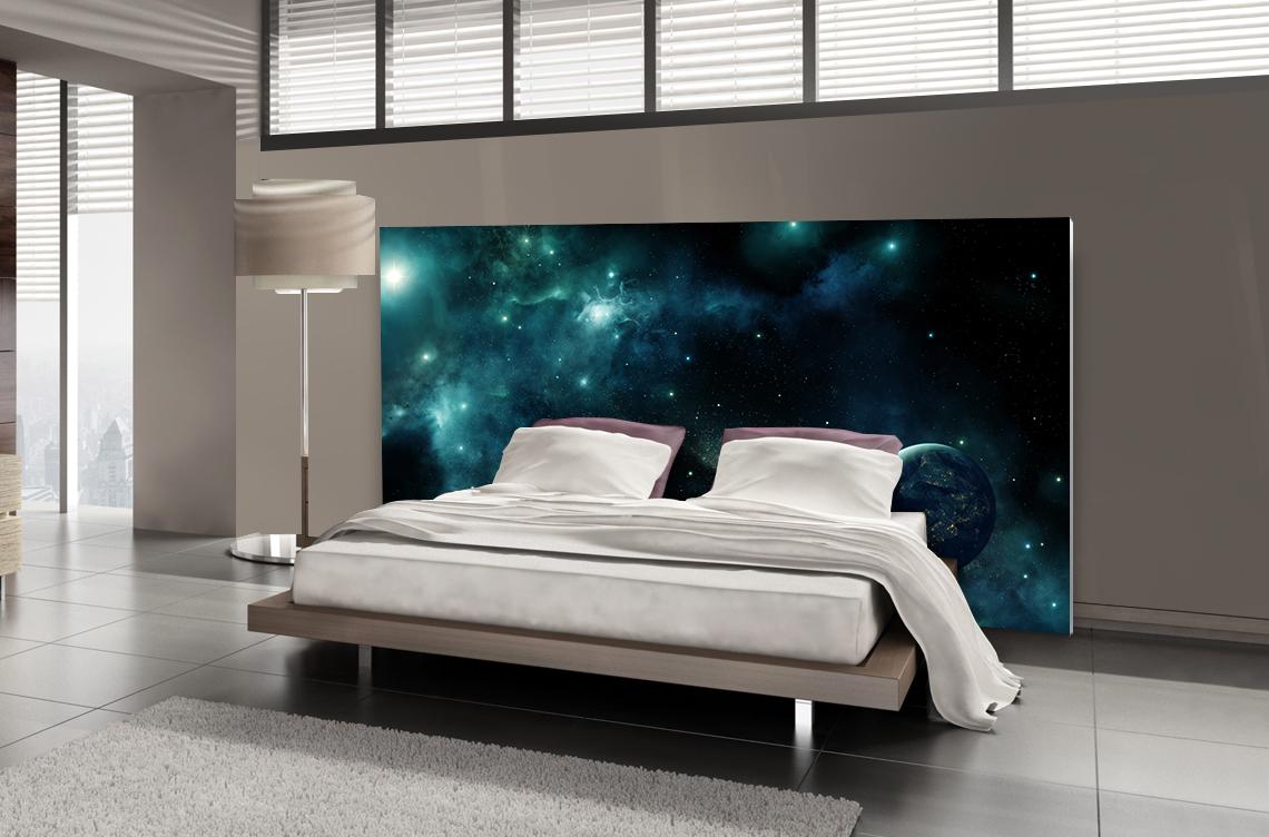 Tête de lit système solaire - Lit de 140