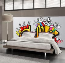 Tête de lit graffiti - Lit de 140