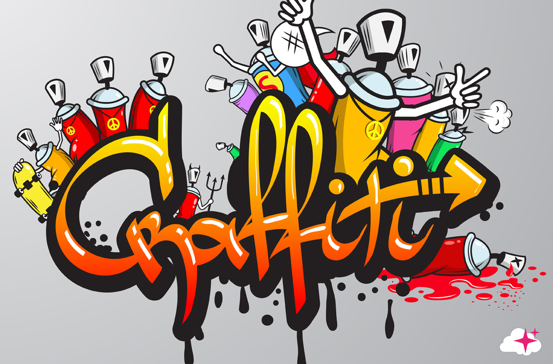 T te de lit graffiti textilvision - Tete de lit personnalisee ...