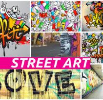 Tête de lit Street Art - Cadre aluminium - TEXTILVISION