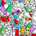 Tête de lit tag bombe de peinture - Design
