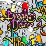 Tête de lit tag Break Dance - Design