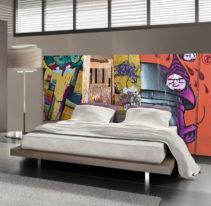 Tête de lit graffiti Johannesburg - Lit de 140