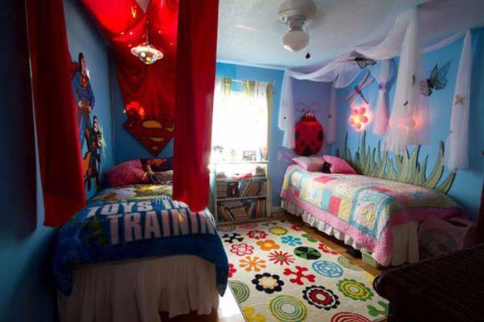 Organiser l 39 espace si 2 enfants partagent la m me chambre for Organiser une chambre pour deux