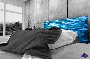 Une tête de lit décorative