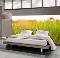 Tête de lit herbe - Lit de 140