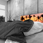 Tête de lit paradis Hawaii - Lit de 140