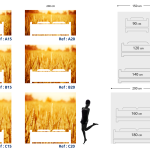 Tête de lit champ de blé - Guide
