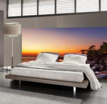 Tête de lit tropicale - Lit de 140