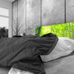 Tête de lit chute d'eau - Lit de 140