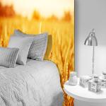 Tête de lit champ de blé - Lit de 90