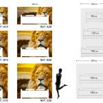 Tête de lit lion - Guide