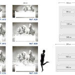Tête de lit chevaux blancs - Guide