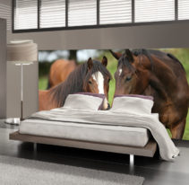 Tête de lit chevaux - Lit de 140
