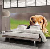 Tête de lit petit chien - Lit de 140