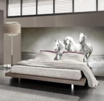 Tête de lit cheval blanc - Lit de 140